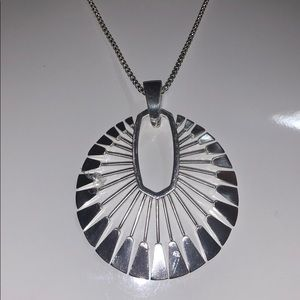 Sunburst long pendant